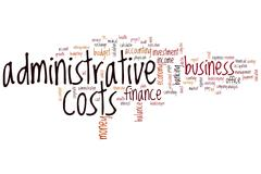 Administrative costs word cloud Stock Illustration