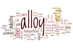 Alloy word cloud Stock Illustration