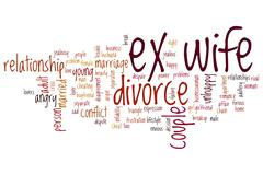 Ex wife word cloud Stock Illustration