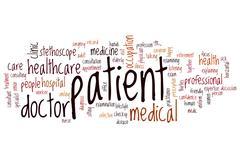 Patient word cloud Stock Illustration