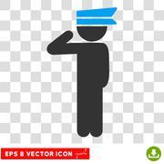 Child Officer Vector Eps Icon Stock Illustration