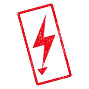 Electric Strike Icon Rubber Stamp Stock Illustration