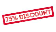 75 percent discount rubber stamp Stock Illustration