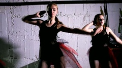 Contemporary dance performance of four dancers Stock Footage