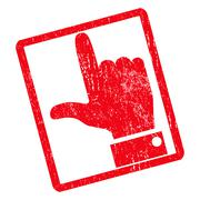 Hand Pointer Up Icon Rubber Stamp Stock Illustration