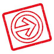 Import Icon Rubber Stamp Stock Illustration