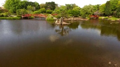 4K Aerial Of Japanese Gardens Toowoomba With Tilt Down Stock Footage