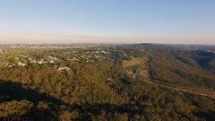 4K Aerial Of Toowoomba And Range Highway Stock Footage