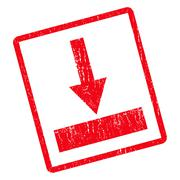 Move Bottom Icon Rubber Stamp Stock Illustration