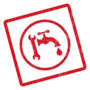 Plumbing Icon Rubber Stamp Stock Illustration