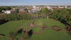 4K Aerial Of Toowoomba Mothers War Memorial - Park and City Centre Stock Footage