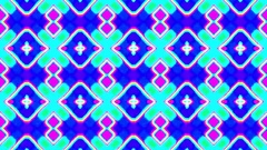 Colorful fast kaleidoscope square grid psychedelic VJ Motion Background Loop 1 Stock Footage