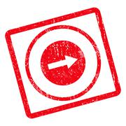 Right Rounded Arrow Icon Rubber Stamp Stock Illustration
