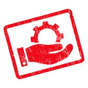 Service Icon Rubber Stamp Stock Illustration