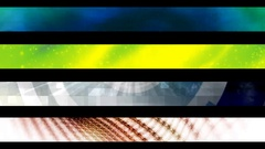 Abstract looping alpha embedded lower third group two Stock Footage