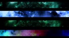 Abstract looping alpha embedded lower third group three Stock Footage