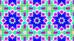 Colorful fast kaleidoscope square grid psychedelic VJ Motion Background Loop 3 Stock Footage