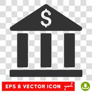 Bank Building Vector Eps Icon Stock Illustration
