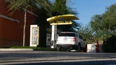 Time lapse of a Fast Food drive thru Stock Footage