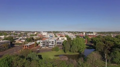 4K Aerial Toowoomba Park And City Centre Stock Footage