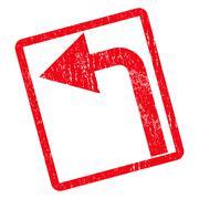 Turn Left Icon Rubber Stamp Stock Illustration