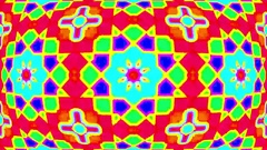 Hypnotic Psychedelic Colorful Kaleidoscope Mandala VJ Motion Background Loop 1 Stock Footage