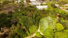 4K Aerial Of Japanese Gardens Toowoomba Stock Footage