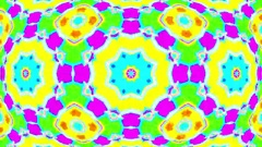 Hypnotic Psychedelic Colorful Kaleidoscope Mandala VJ Motion Background Loop 2 Stock Footage