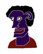 Man Portrait Caricature Isolated Illustration Stock Illustration