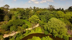 4K Aerial Of Japanese Gardens Toowoomba Lower Stock Footage