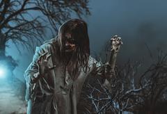 Scary zombie. Halloween. Stock Photos