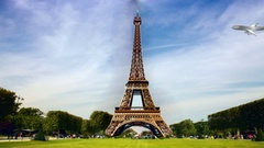 Rubberized Eiffel Tower:  Looping Stock Footage