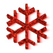 Snowflake with lava texture Stock Illustration