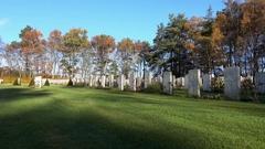 War Cemetery - Garden of Rememberance Stock Footage