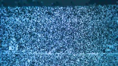 A flickering, analog TV signal. VHS retro recording video cassettes, TV channels Stock Footage