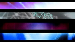 Abstract looping alpha embedded lower third group fifteen Stock Footage