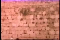 Western Wall (Vintage 1950's) Stock Footage