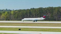 Delta Connection Regional Jet at Raleigh-Durham International Airport RDU Stock Footage