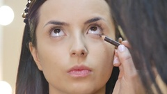 Eyes Makeup.Make-up.Eyes shadows Stock Footage