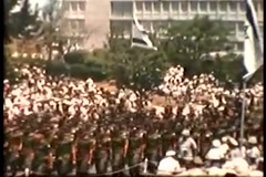 Israeli Soldiers Marching at Parade (Vintage 1950's) Stock Footage