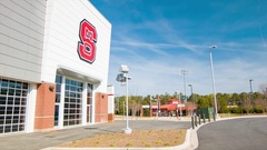 NC State University Football Training Center in Raleigh Stock Footage