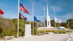 Veterans Freedom Park in Cary / Raleigh NC Stock Footage