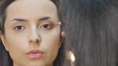Eyes Makeup.Make-up.Eyes shadows Stock Footage