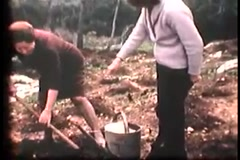 Jewish Tourists Farming in Israel (Vintage 1950's) Stock Footage