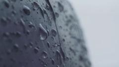 Rain Drops on Car Tyre Stock Footage