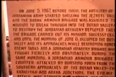 Israeli Army Memorial Text (Vintage 1950's) Stock Footage