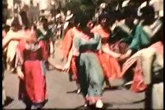 Jewish Circle Dancing (Vintage 1950's) Stock Footage