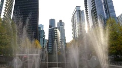 Vancouver business district Stock Footage