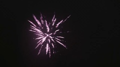 Bright Colourful Fireworks Stock Footage