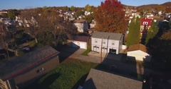 Rising Aerial Shot of Typical Western Pennsylvania Neighborhood  	 Stock Footage